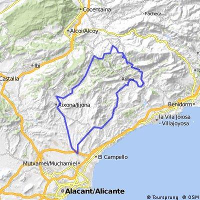 Vuelta Busot Aigues Relleu Sella Tudons Torremanzanas jijona