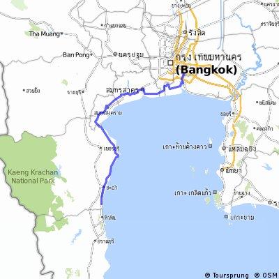 Bangkok To Hua Hin Bikemap Your Bike Routes