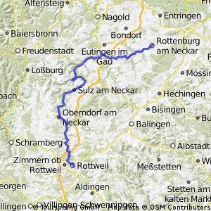 Rottweil - Rottenburg (Neckarradweg Tag 2)