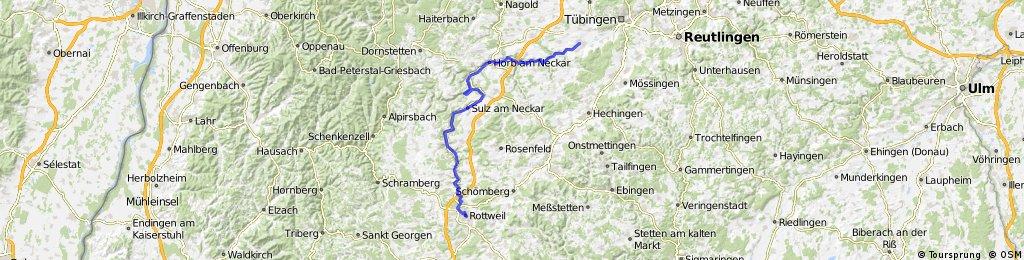 Neckarradweg Karte.Rottweil Rottenburg Neckarradweg Tag 2 Bikemap Deine Radrouten