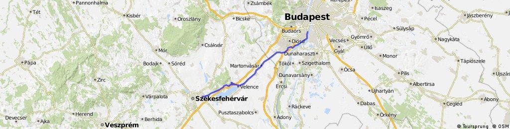 Székesfehérvár - Velence kilátó - Budapest
