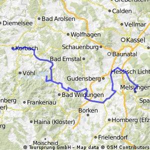 Edersee-Bahnradweg sowie Eder- u. Fulda-Radweg