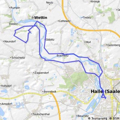 Halle-Wettin-Johanneshall-Fienstedt-Salzmünde