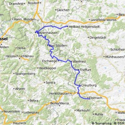 Tour zum lahmen Frosch - von Heilbad Heiligenstadt nach Eisenach