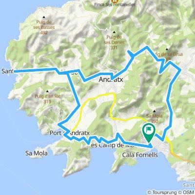 Rundkurs: Paguera-San Telm