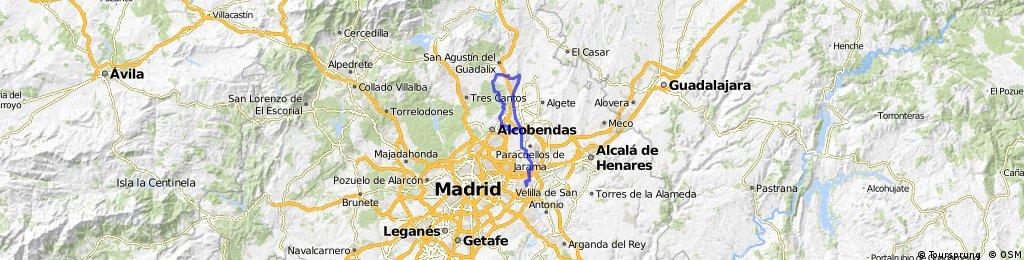 Coslada - Urb. Valdelagua - San Sebastián de los Reyes - Coslada