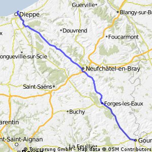 Champagne - 01 - Dieppe to Gournay-en-Bray