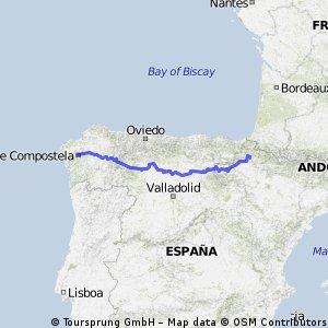 Jakobsweg Pamplona - Santiago de Compostela