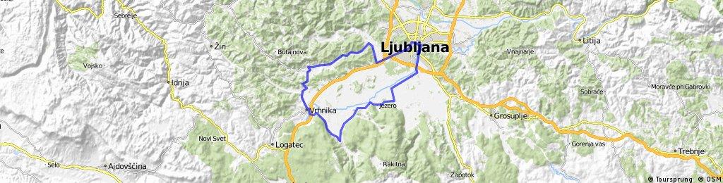 Ljubljana-Horjul-Vrhnika-Borovnica-Črna Vas-Ljubljana
