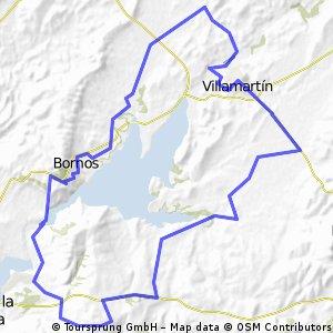 Villamartín - Las Abiertas - Presa Bornos - Bornos - Villamartin