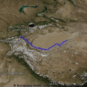 Taklamakan south route