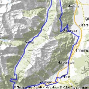 Kunkelpass ab Untervaz 57 km