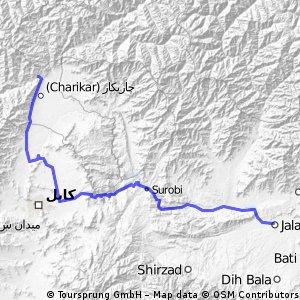 sabol saraj - charikar - kabul - Jalalabad