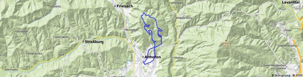 Althofen- Bartlkreuz-Dobritsch-Althofen
