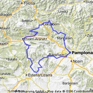 CICLOTURISTA PAMPLONA RECORRIDO LARGO 175 Km