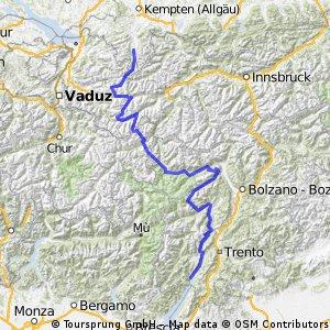 TransAlp: Fischen - Gardasee Tag 1 bis 7