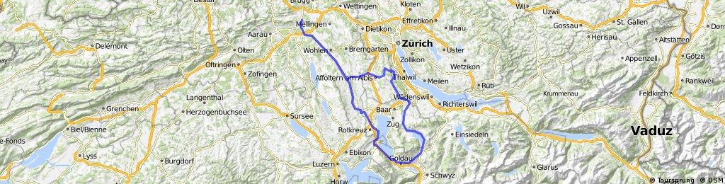 Buchenegg - Albispass - Ägerisee - Zugersee