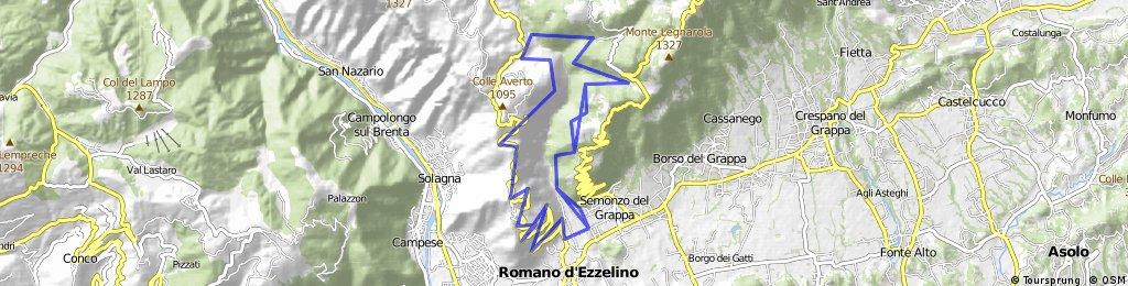 Tour #54048: Bassano - Monte Grappa - Sent. 100