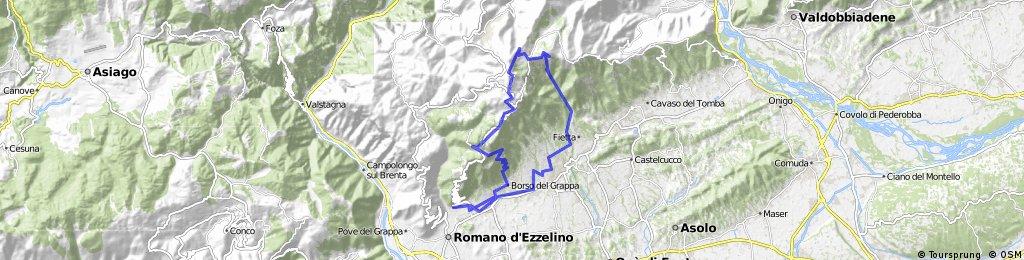 Tour #64647: Bassano - Sent. 152 - Monte Grappa