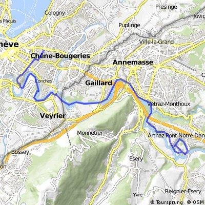Arve depuis Geneve