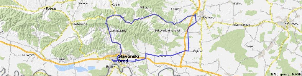Slavonski Brod-Ruševo-Đakovo-Perkovci-Trnjani-Donja Vrba-Slavonski Brod