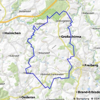 Frankenstein 55 km (Freiberg, Striegis, FG Mulde usw.)