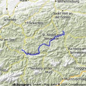 2.úsek cesty do Mariazell v květnu 2014