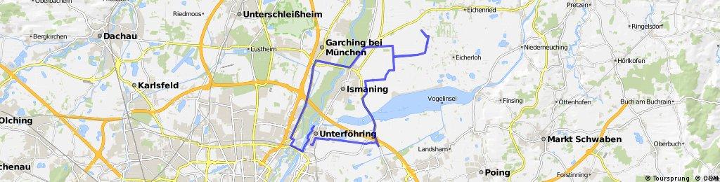 Unterföhring-Eicherloh-Fischerhäuser-Ismaning-Garching-Freimann-Unterföhring