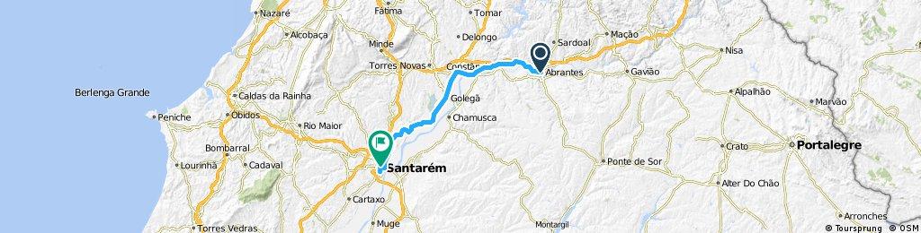 2014 - Cáceres - Santarém - 5. Tag - Abrantes - Santarém