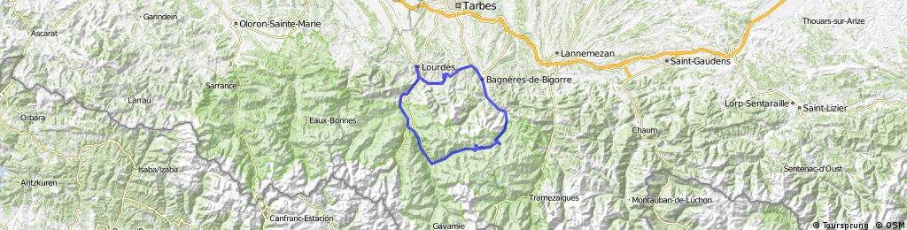Lourdes - Col du Tourmalet - Juncalas - Lourdes