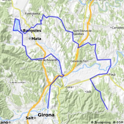 Girona  -Banyoles - Madremanya (73,39 km)