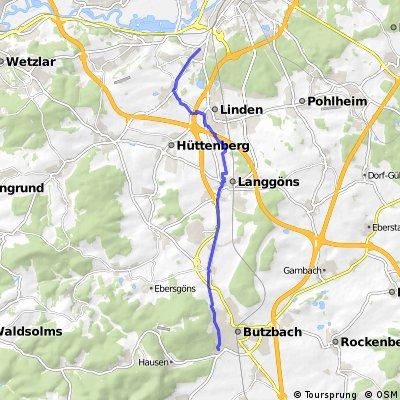 Klein-Linden nach Butzbach