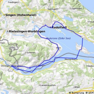 Radtour von Allensbach nach Stein am Rhein