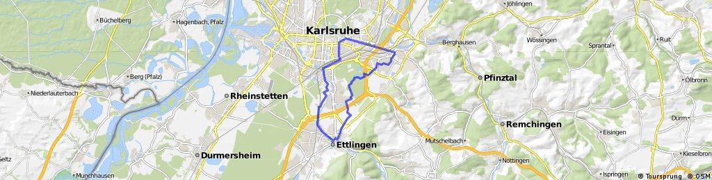 Tour de Vogel: Durlach - Ettlingen - Karlsruhe - Durlach