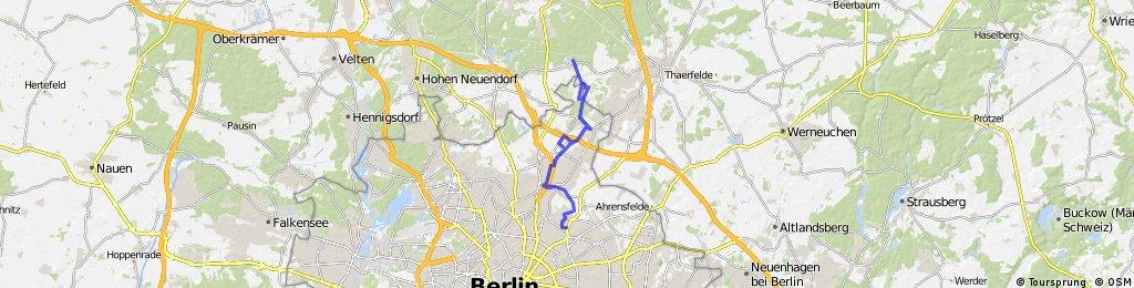 Weissensee - Pankeweg - Gut Hobrichtsfelde - Gorinsee - Weissensee