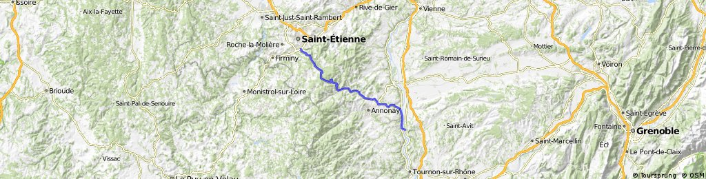 St Etienne - St Vallier (5th stage of Paris - Nice)