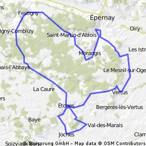 Epernay to Vert-Toulon to Epernay
