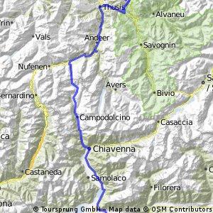 Valbella - Talamona über Splügen