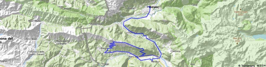 Tour 3 Bovec - Kobarid - Stol