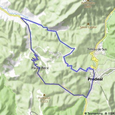 Predeal - Poiana Secuilor - Cheile Rasnoavei - Paraul Rece - Predeal