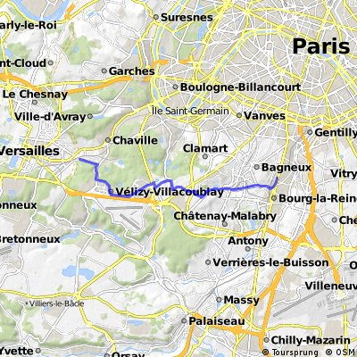 Bagneux Viroflay   -  15 km  -  130 m