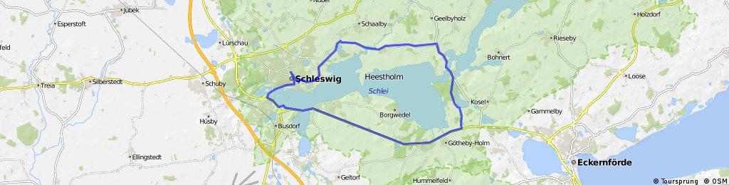 Rundfahrt Missunde ca 34 KM