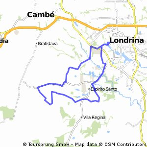 Cycling Routes And Bike Maps In And Around Londrina Bikemap - Londrina map