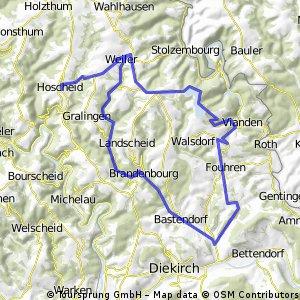 Hoscheid /ViandenVerkenningsritje  40 km