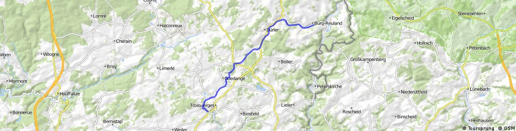 Vennbahn, Etappe 6: Burg-Reuland - Troisvierges
