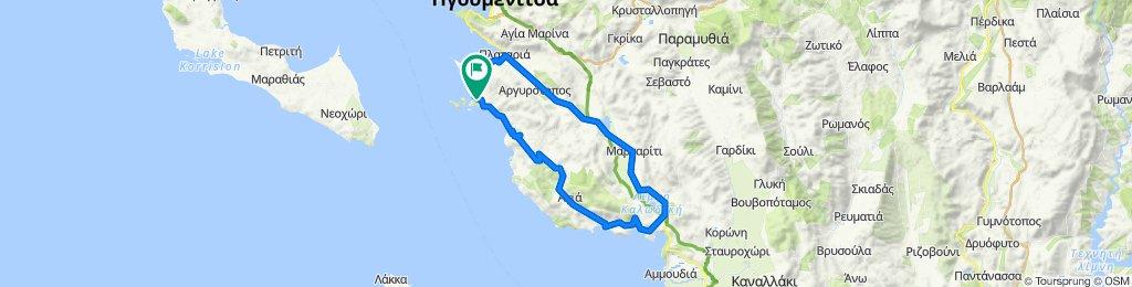 (road GR) Sivota-Parga-Plataria-Sivota