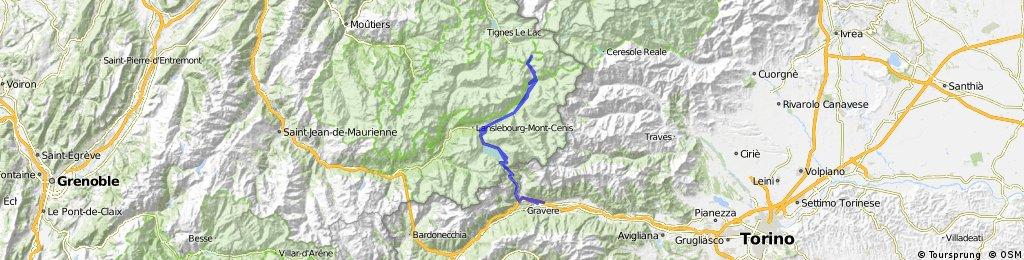 Susa-Mont Cenis-Iseran-Mont Cenis-Susa
