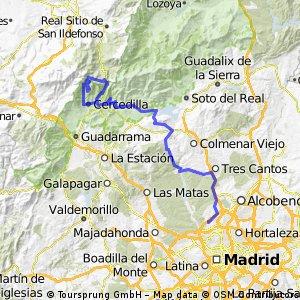 Madrid - Fuenfría - Navacerrada - Cercedilla