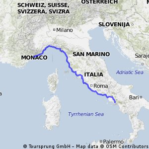 Cycling routes and bike maps in and around Monte Carlo Bikemap