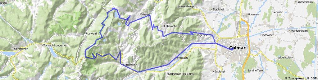 Colmar - Col de la Schlucht - orbey - Colmar